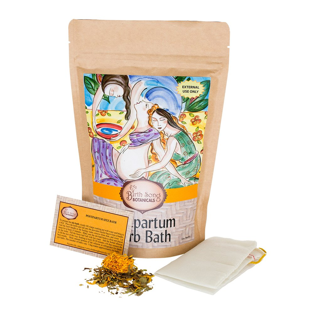 Birth Song Botanicals Postpartum Herb Sitz Bath for Soothing Recovery, 8 oz. by Birth Song Botanicals