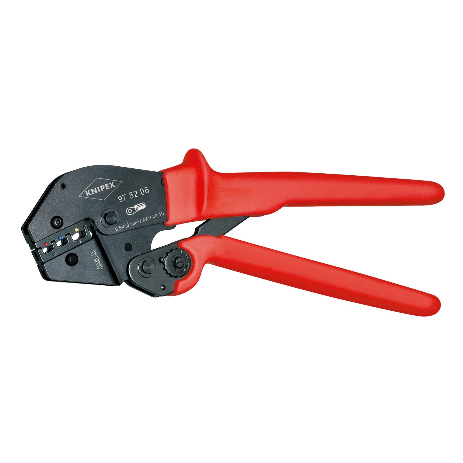 Knipex 97 52 06 0,5-6mm Crimping Pliers for insulated terminals by KNIPEX Tools