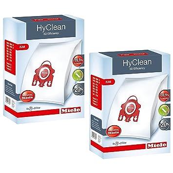 2 X Miele FJM HyClean 3D Eficiencia bolsas para polvo para compacta, S700, S4000 y S6000 Series