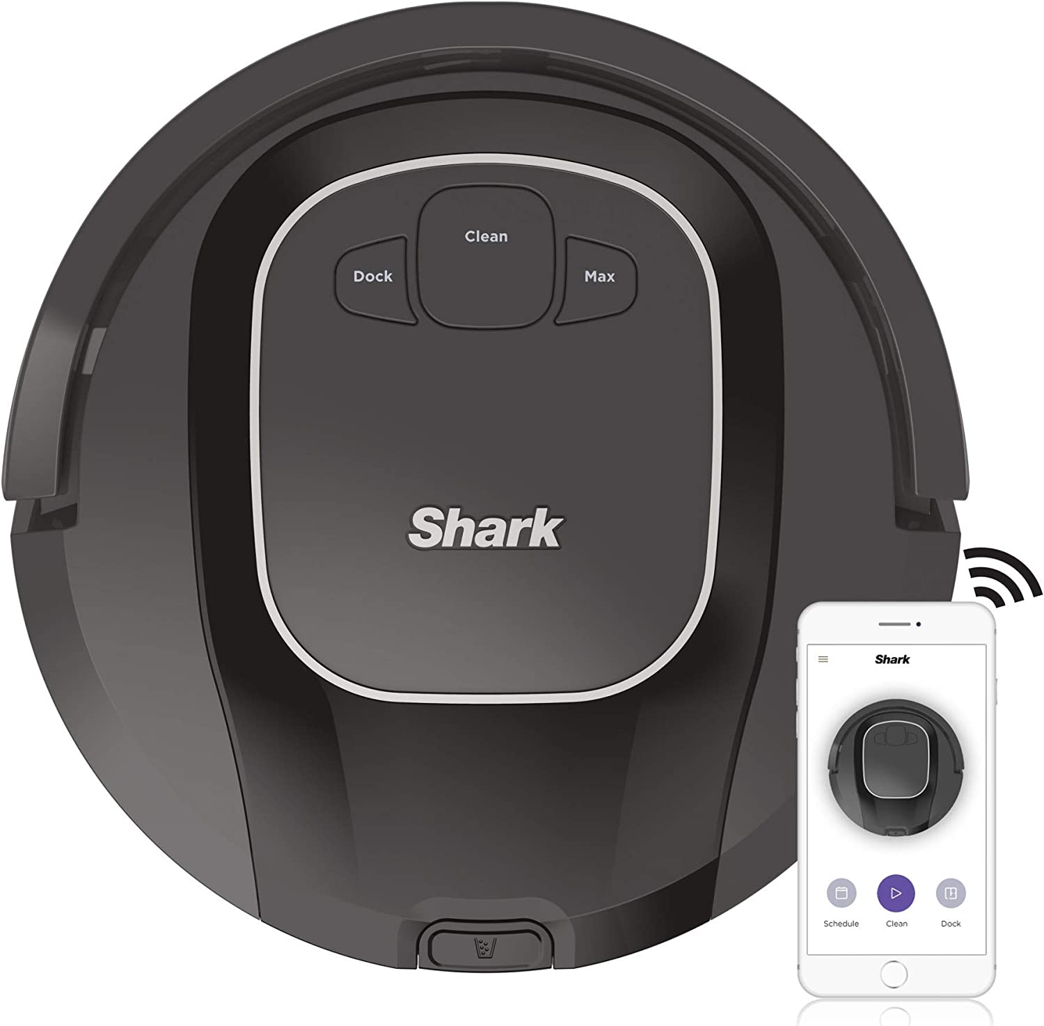 Shark ION R87, Wi-Fi Connected with Powerful Suction, Multi-Surface Brushroll and Voice Control with Alexa Robot Vacuum (RV871), 0.6 qt, Black (Renewed)