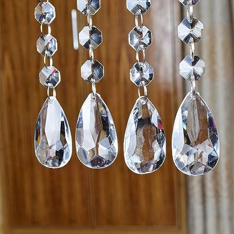 Acrylic Crystal Bead Hanging Strand Manzanita Trees Wedding Centerpiece Decor 12pcs