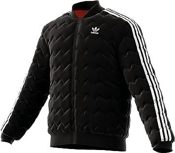 Adidas Superstar Quilted Jacke Herren schwarz, XS 42