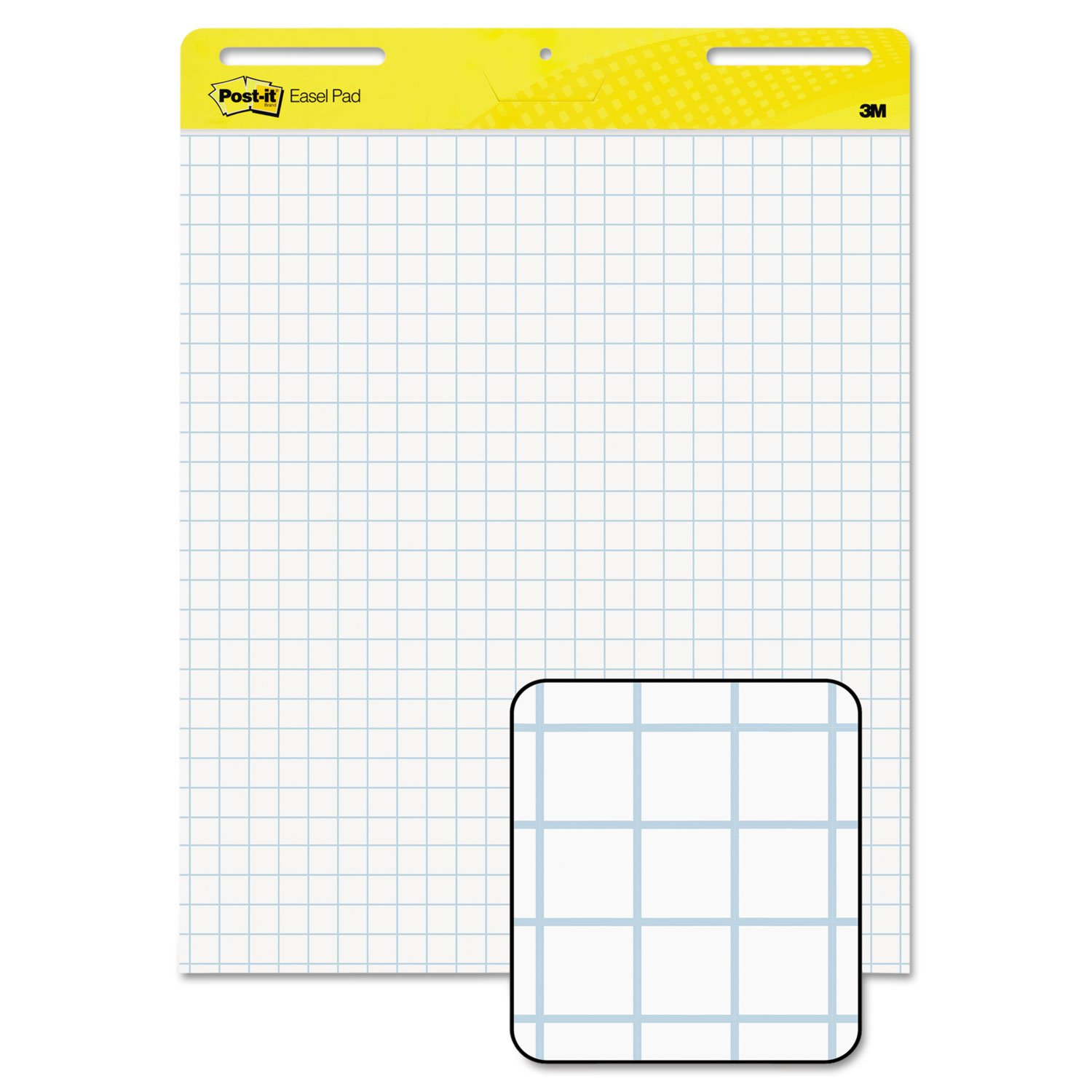 3M Easel Pad,Self-stick,Faint Grid,30 Sheets,25''x30'',2/CT,WE