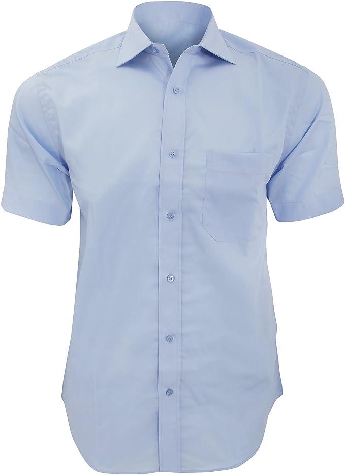 KUSTOM KIT - Camisa de Manga Corta Formal No necestia Plancha Modelo Premium Hombre Caballero - Fiesta/Trabajo/Eventos: Amazon.es: Ropa y accesorios