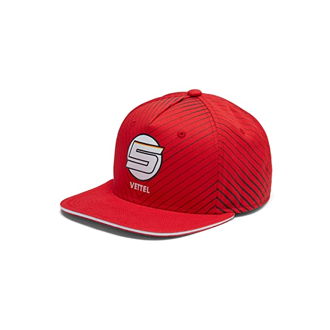 Scuderia Ferrari Fanwear Sebastian Vettel Flat Brim Cap  Amazon.es  Ropa y  accesorios 6b00513fa49