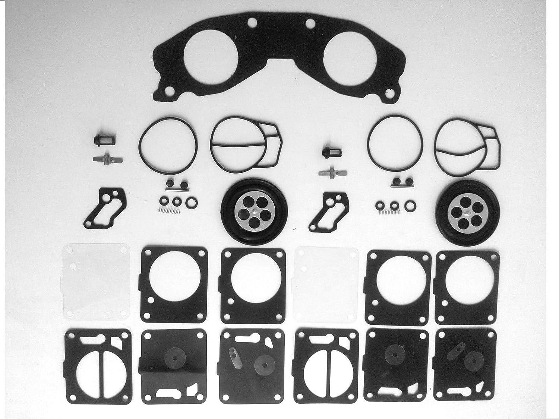 Mukuni Dual Carb Rebuild Kit with Base Gasket Compatible with Yamaha 701 700 62T-13556-00-00
