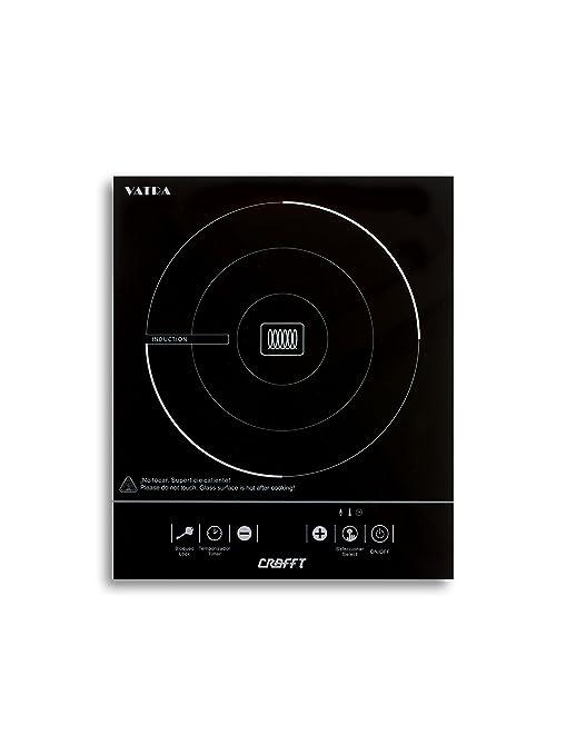 Crafft 1431-CPLIF2000 Placa de inducción portátil, 2000 W