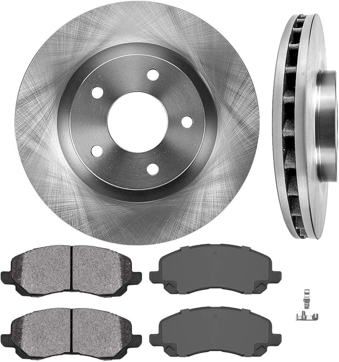 FRONT Premium Grade OE Brake Rotors + Metallic Brake Pads