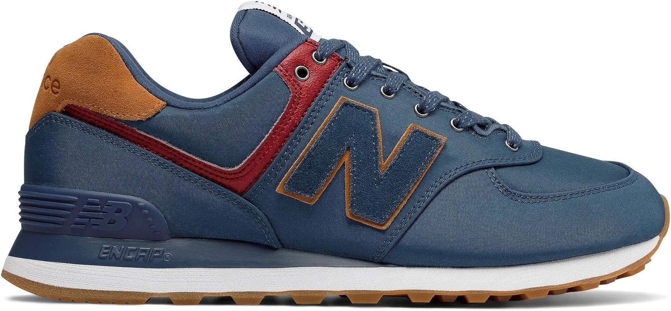 574 - Zapatillas para hombre (talla 12), color marrón