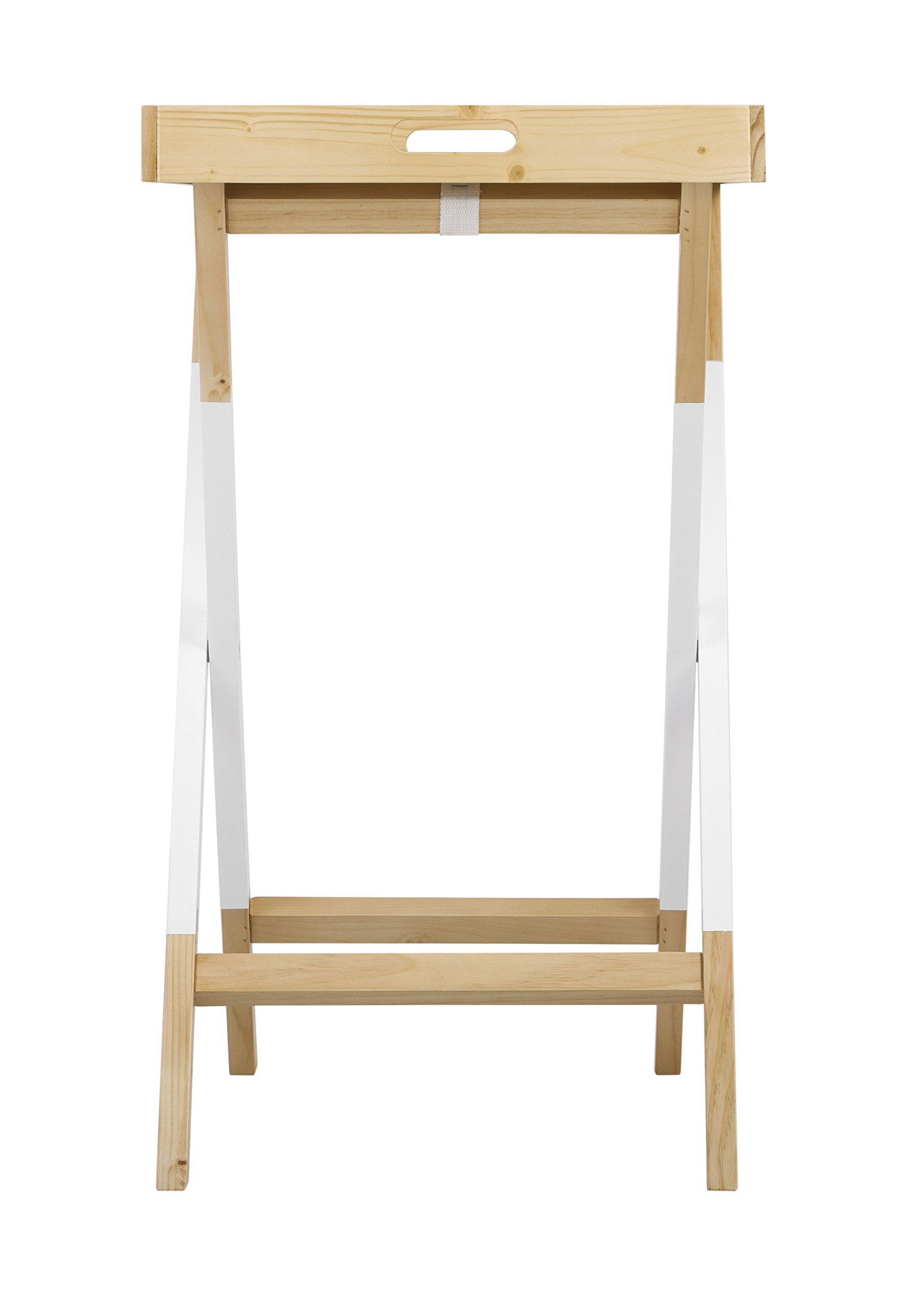 Universal Experts FUST10026A Remus Folding Tray Table, Oak/White by Universal Experts (Image #8)