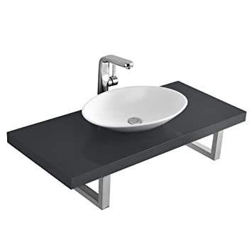 neu haus] Meuble sous lavabo console pour lavabo avec vasque de
