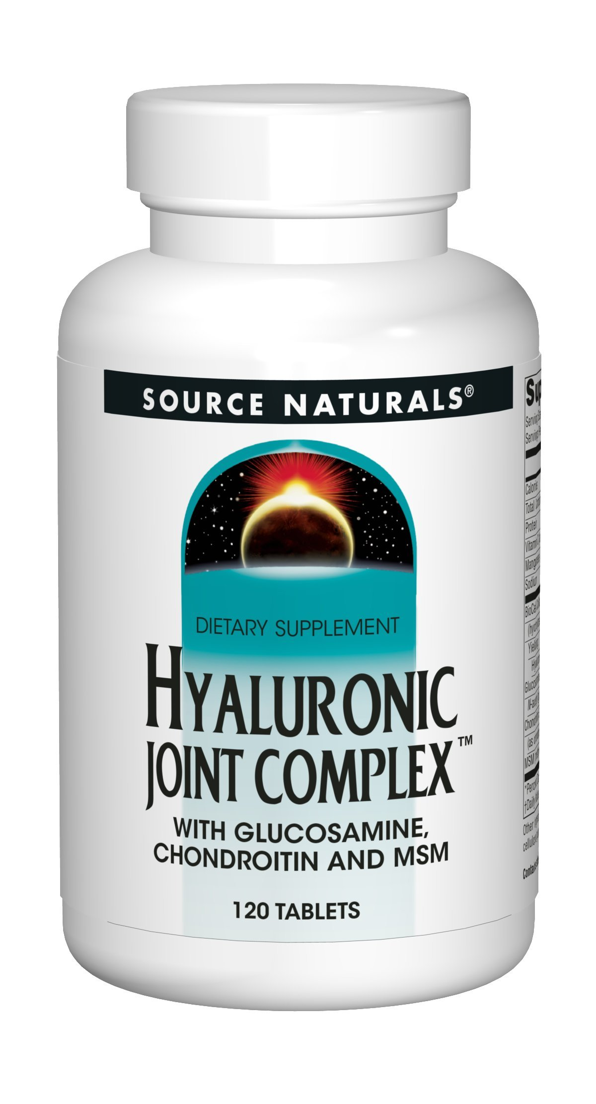 Source Naturals Hyaluronic Joint Complex With Glucosamine, Chondroitin & MSM Extra Strength - 120 Tablets