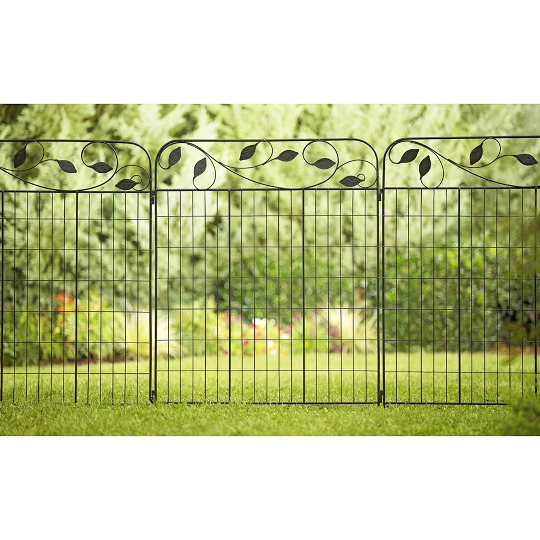 Amazon amagabeli decorative garden fence 36x 44 x 2 panels amazon amagabeli decorative garden fence 36x 44 x 2 panels metal wire fencing outdoor patio decor landscape folding black wrought iron border edging baanklon Gallery