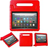 """All New Fire HD 8 2020 Case,Grand Sky Shockproof Eco-Friendly EVA Handle Stand Case Cover Fit for HD 8"""" 2020 Tablet(Red)"""