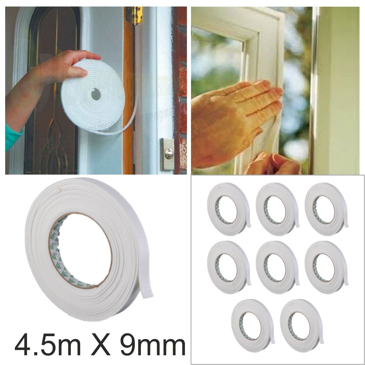 Bro 5 Layers Transparent Draught Excluder Seal Strip Tape Adhesive Weatherstrip