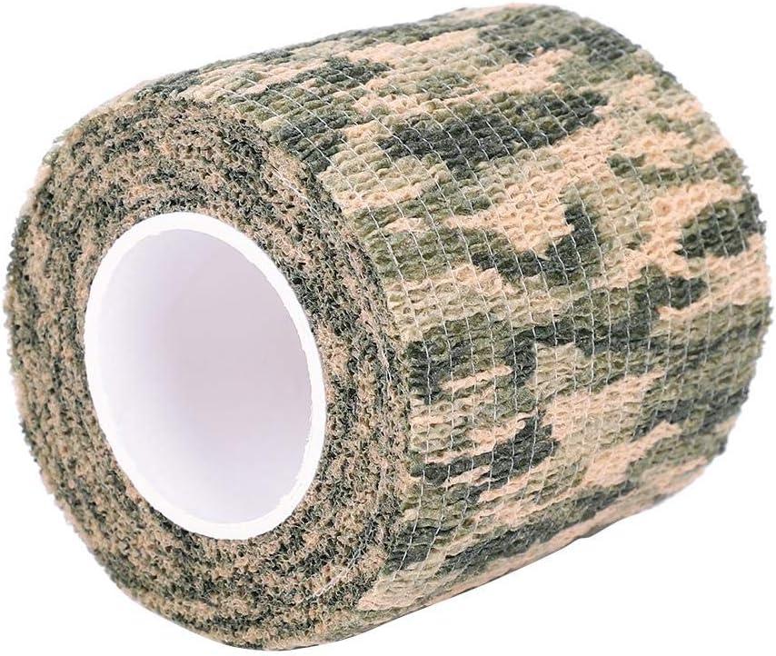Alomejor Tactical Camouflage Tape Kein Kleber Ohne Vlies Stealth Tape selbstklebend Dehnbar f/ür Outdoor Wrap Gewehrjagd