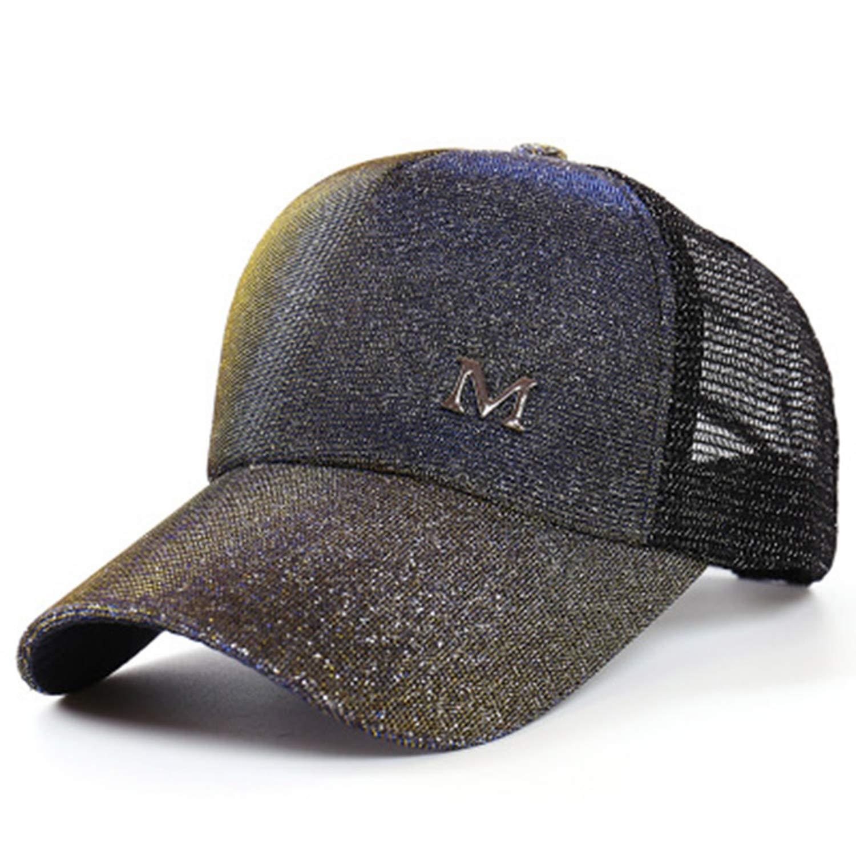 Moktasp Baseball Cap Snapback Dad Hat Mesh Trucker Hat Ladies Summer Casual Adjustable Hip Hop Cap Hat