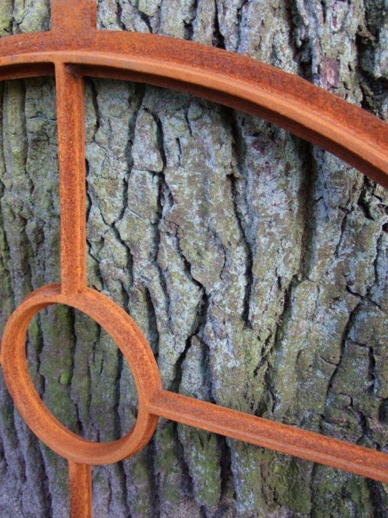 Eisen gefertigt mit Rundsegment Fenster wie antik Eisenfenster