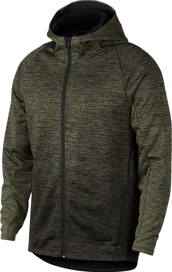 de primera categoría fondo Supresión  Nike Therma Sphere Premium Men's Training Jacket / Hoodie (Olive  Canvas/Black/Black, Small) at Amazon Men's Clothing store