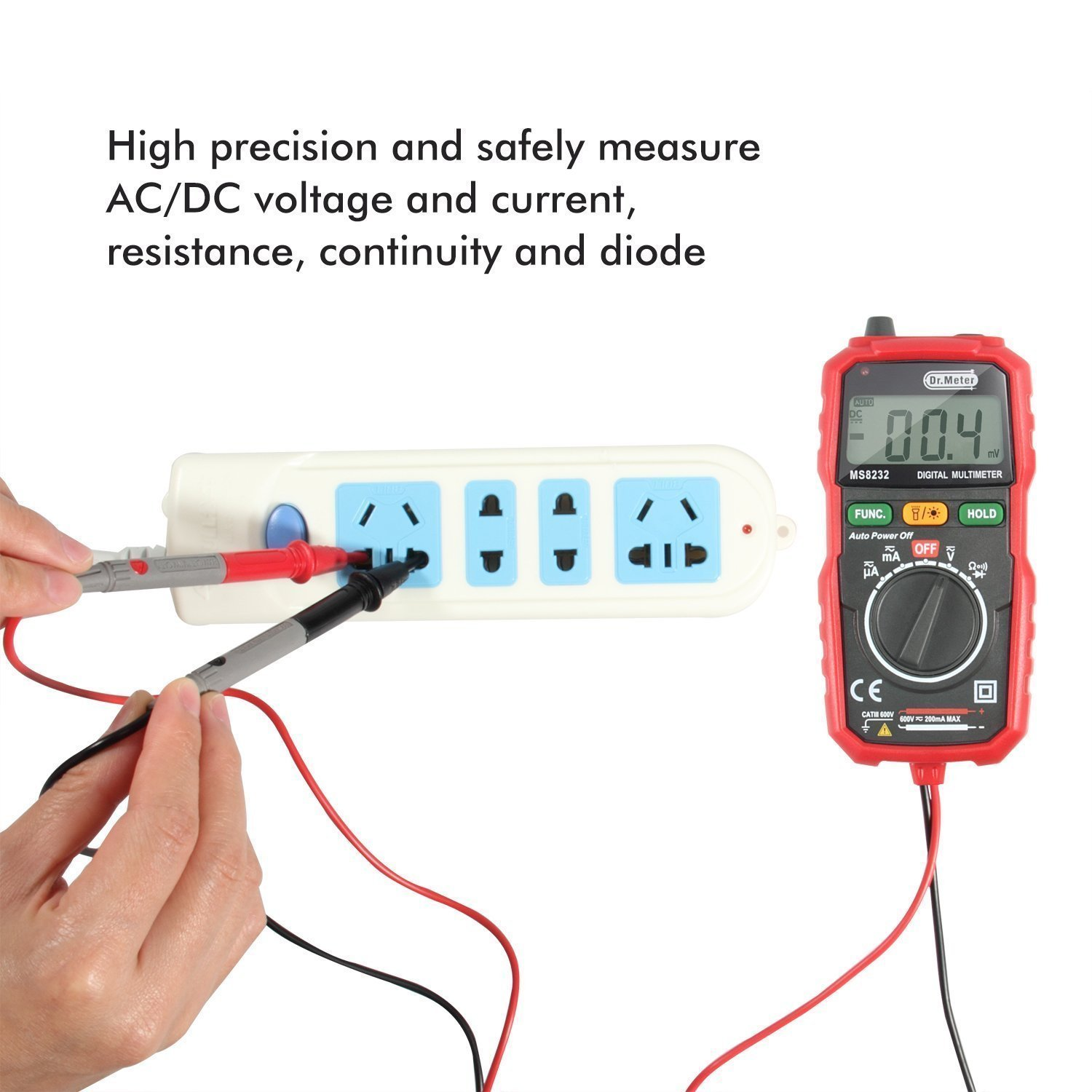 Drmeter Backlight Mini Digital Multimeter Ac Dc Voltage Tester Car Wiring Current Resistance Multi Diy Tools