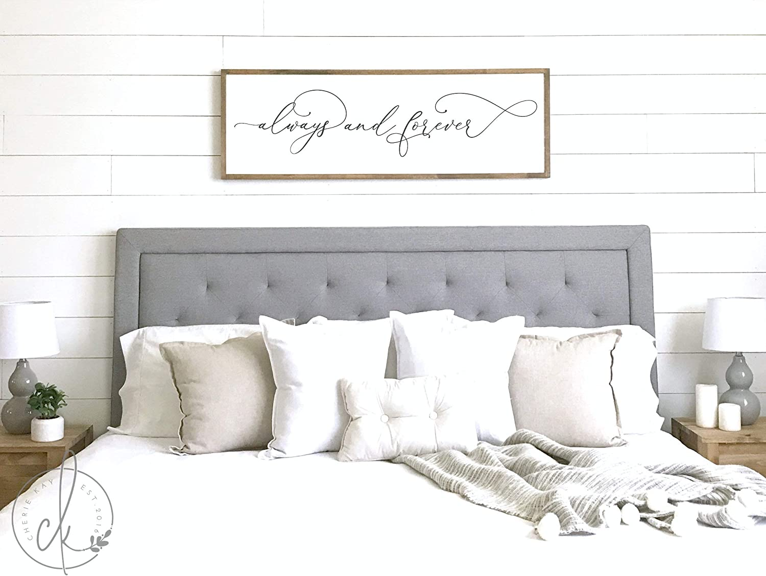 Amazon Com Celycasy Master Bedroom Sign Always And Forever Sign
