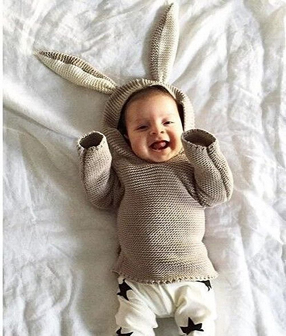 52da9b72c1d5 belababy Kid s Sweaters Easter Baby Boys and Girls Cute Rabbit Ears ...