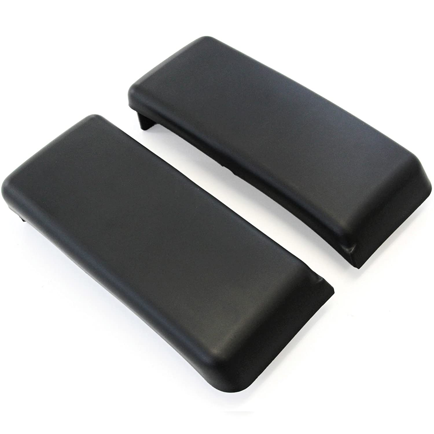 Front Bumper Pads Guards 2009-2014 Compatible with Ford F150 Inserts Caps Pair RH & LH Black New Red Hound Auto