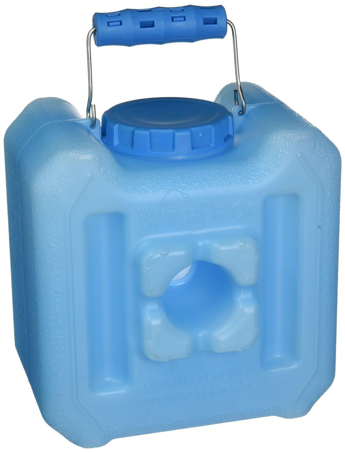 WaterBrick - WATERBRICK-1833-0005 - Emergency Water and Food Storage Containers - 1.6 gal of Liquids/Up to 13 lb of Dry Foods, Blue