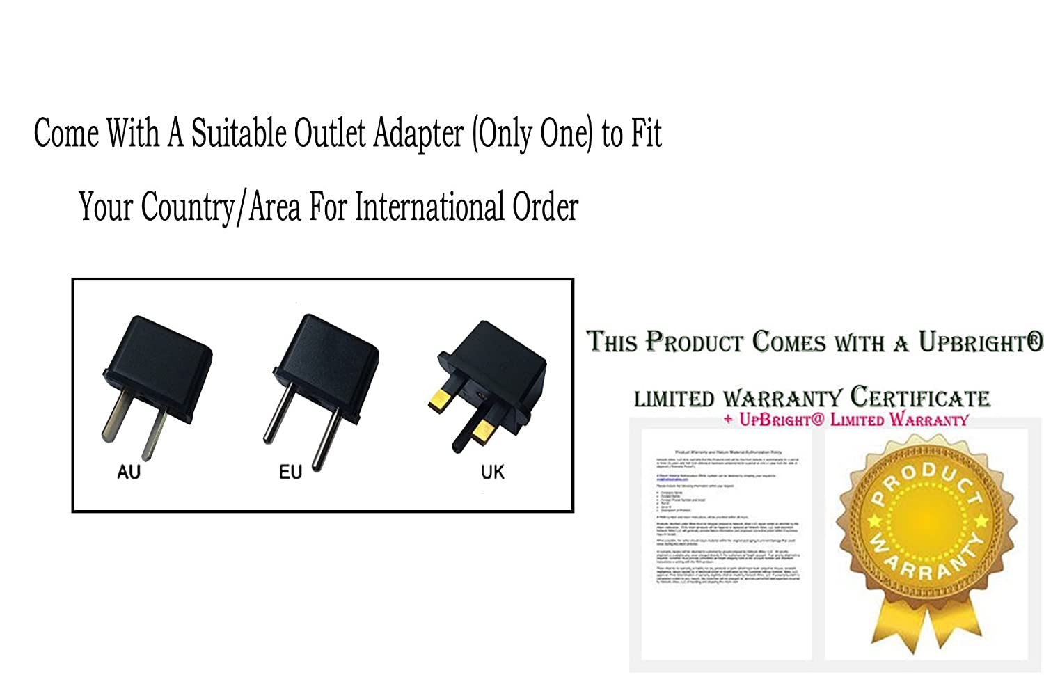 Amazon.com: UpBright 3V AC/DC Adapter Replacement For X-Rocker Universal Wireless Receiver & Transmitter 51XXX Gaming Chair UXV51XXX 6905A-51XXX FCC ID ...