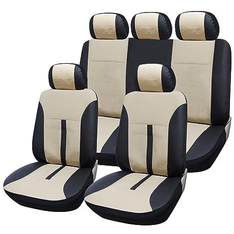 Universal Autositzbezüge Beige für Volkswagen Beetle Sitzbezüge Set Schonbezug