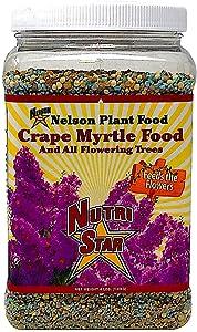 Crape Myrtle & All Flowering Trees Desert Willow Mimosa Orchid Tree Indoor Outdoor Container Grown Granular Fertilizer NutriStar (4 LB)