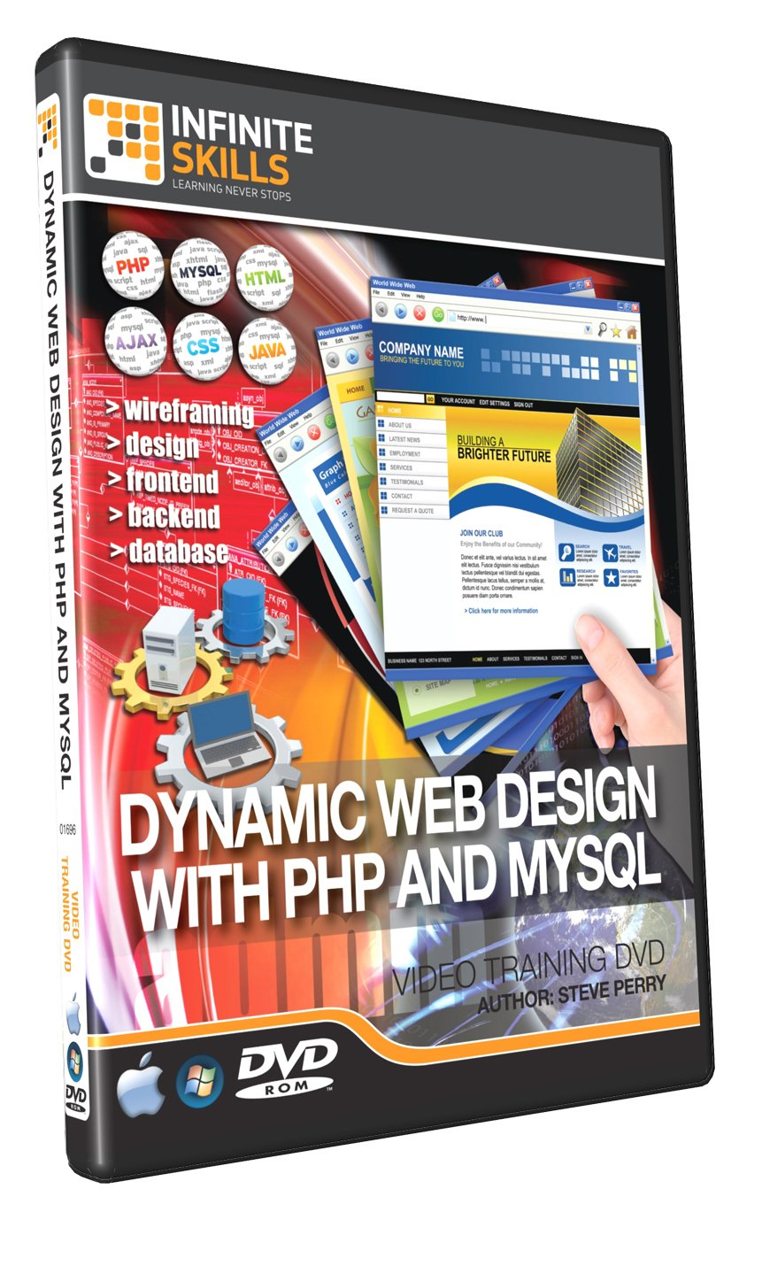 Learning dynamic web design with php and mysql training dvd learning dynamic web design with php and mysql training dvd tutorial video amazon software baditri Image collections