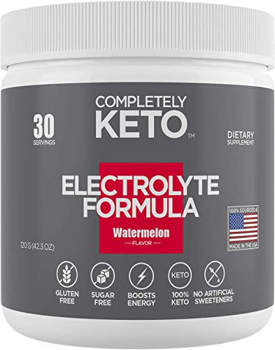 Completely Keto Electrolyte Formula Keto Powder for Weight Loss Support Keto Supplement to Prevent Keto Flu Electrolyte Powder Drink Mix, Watermelon Flavor