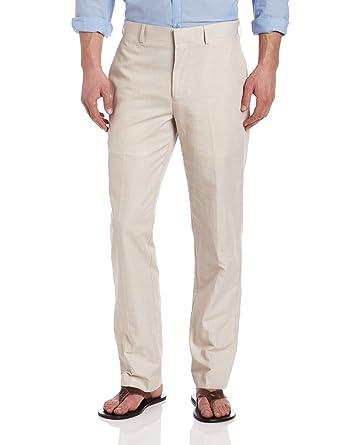 805b575d Cubavera Men's Linen-Cotton Herringbone-Textured Pant at Amazon Men's  Clothing store: White Linen Pants Men