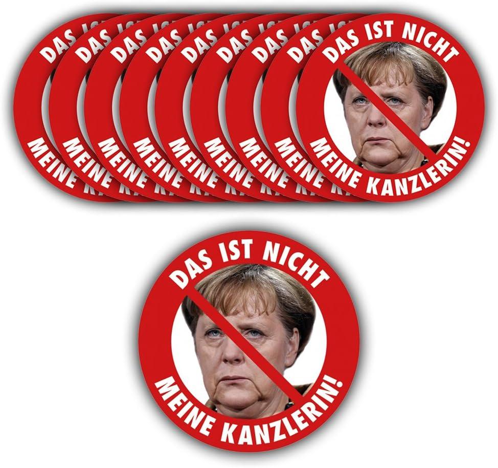 Aufkleber // Sticker Angela Merkel Protest Merkel mu/ß weg Demo Deutschland Regierung Schnauze Voll Das ist nicht meine Kanzlerin! Aufkleber Set, 10 St/ück