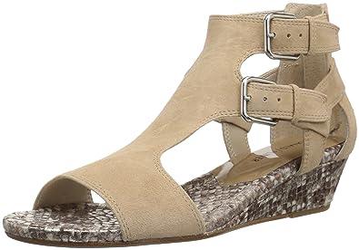cba5708cce3 Donald J Pliner Women s EDEN2 Wedge Sandal Natural 10 Medium US