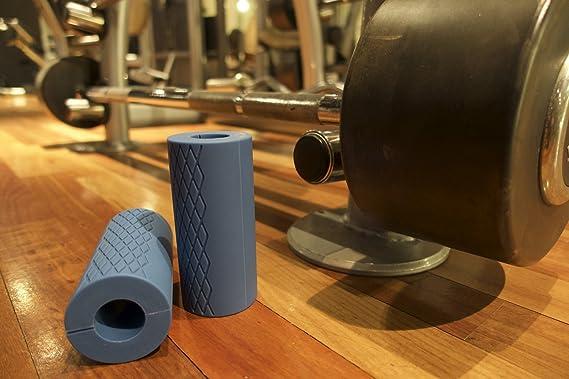 perfecore grueso agarre Pesas Grips - fácilmente convertir mancuernas, barras de pesas, y pesas rusas para un mayor agarre grasa para mayor Muscle Gain ...