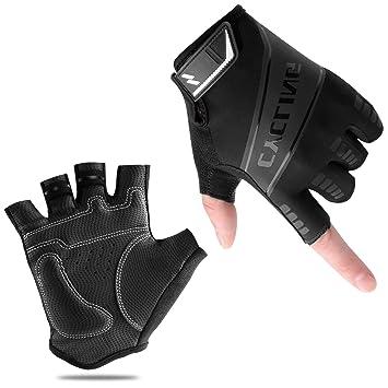 Cycling Bike Bicycle Antiskid Wearable Sports Half Finger Glove M-XL Black