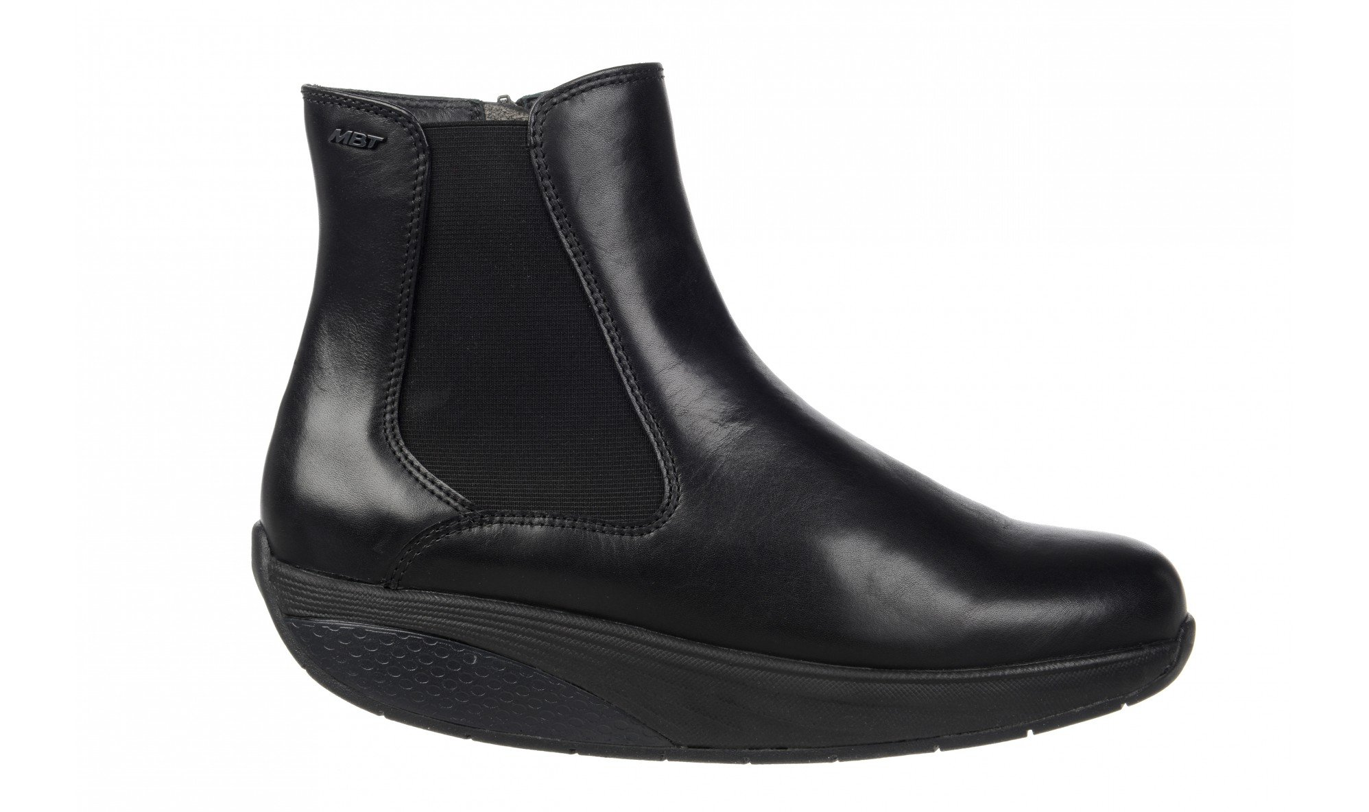 MBT WOMEN'S ARUSI ANKLE BOOT WITH VIBRAM SOLE (BLACK OR BROWN) (EU37(6-6.5), BLACK) by MBT