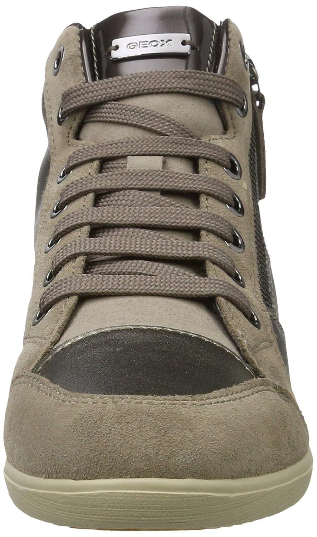 Geox Damen D Myria B Hohe Sneaker, Braun (Lt Taupe), 39 EU