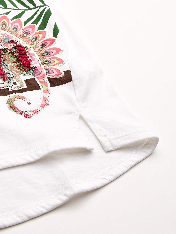 TS/_Ontario Camiseta para Ni/ñas Desigual Girl Knit T-Shirt Short Sleeve