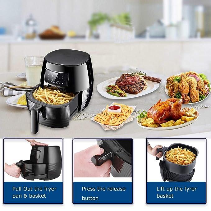 Amazon.com: Phyismor - Freidora de aire para horno, con ...