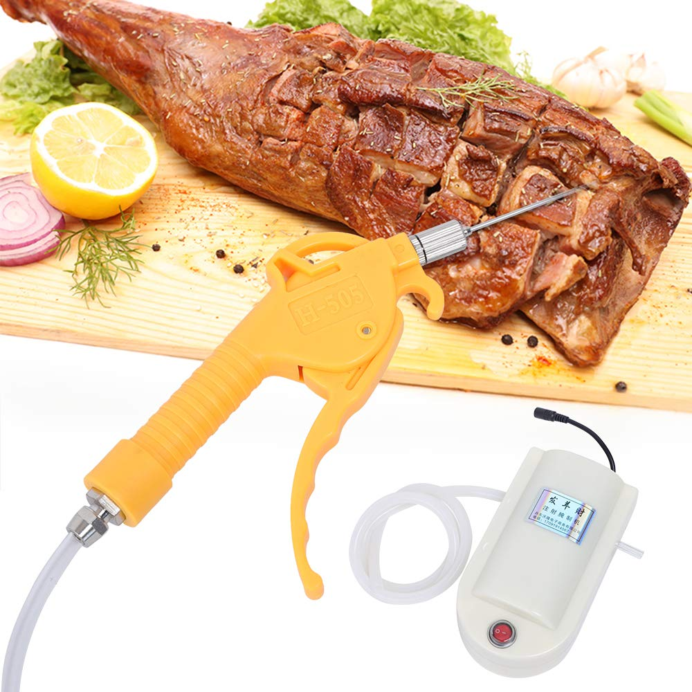 ZHFEISY Meat Marinade Pump Gun - Electric Pump Gun Meat Saline Syringe Pump Electric Injector Meat Marinated Proces (Singal Gun) by ZHFEISY