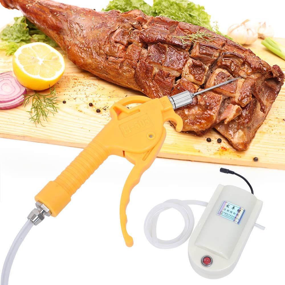 ZHFEISY Meat Marinade Pump Gun - Electric Pump Gun Meat Saline Syringe Pump Electric Injector Meat Marinated Proces (Singal Gun) by ZHFEISY
