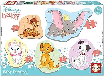 Educa - Baby Puzzles, puzzle infantil Animales Disney, 5 puzzles progresivos de 3 a 5 piezas, a partir de 24 meses (18591): Amazon.es: Juguetes y juegos