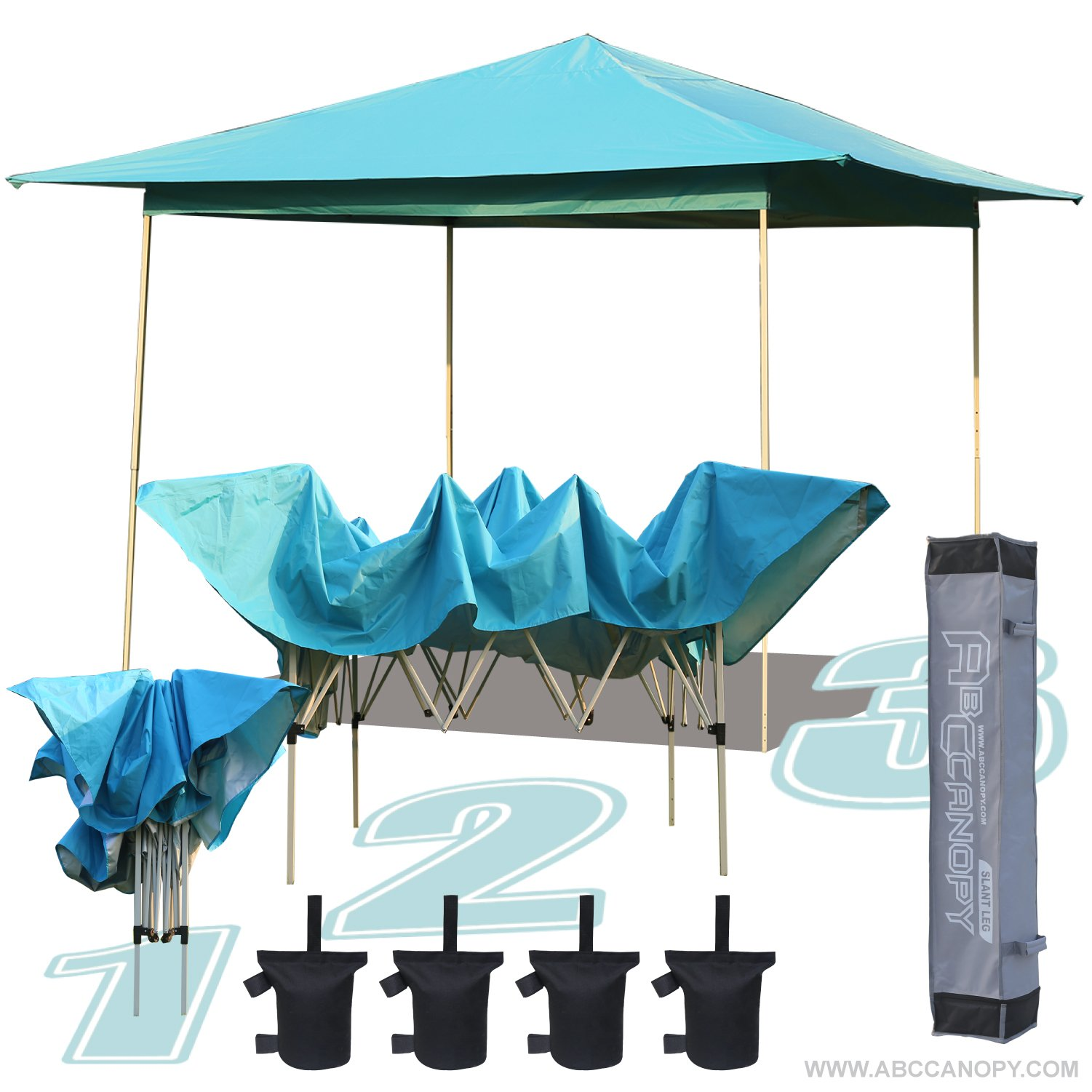 ABCCANOPY 13' x 13' Instant Shelter Pop Up Canopy Gazebo for Shade in Backyard, Party, Event with Carry Bag & weight bag