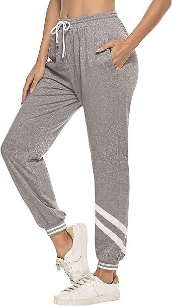 iClosam Pantalones Chándal Mujer Largos Algodón Pantalon ...