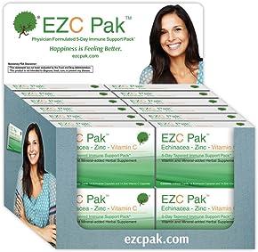 EZC Pak: Zinc, Echinacea Purpurea, Vitamin C. Physician-designed 5-day immune support