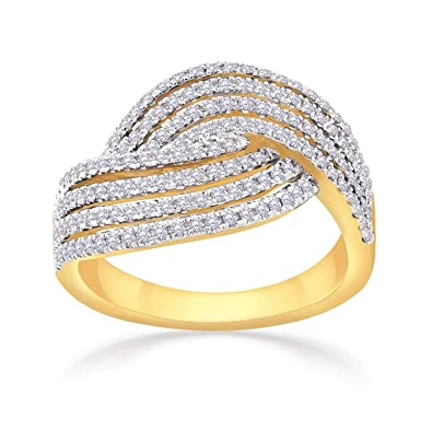 9f9c5ab85406f Buy Malabar Gold and Diamonds 18KT Yellow Gold and Diamond Ring for ...