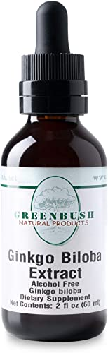Greenbush Ginkgo Biloba Extract, Liquid Memory Supplement 2 Ounces